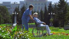 Aftercare Deambulation Stock Footage