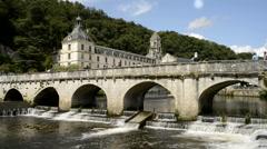 Stock Video Footage of The Benedictine abbey abbaye Saint-Pierre de Branta´me