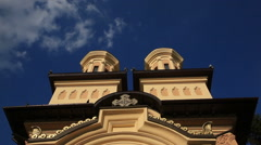 Orthodox Church Exterior time lapse Stock Footage
