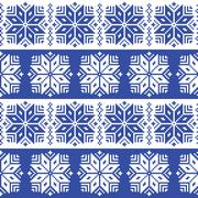 Traditional ornamental winter navy knitted pattern - Nordic style Stock Illustration