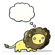 Stock Illustration of cartoon lion  (raster version)