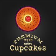 Stock Illustration of Sweet and tasty delicious food best cupcake