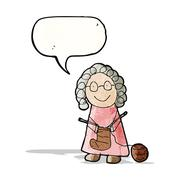 Stock Illustration of child's drawing of a grandmother