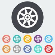 Icon Car drive. Stock Illustration