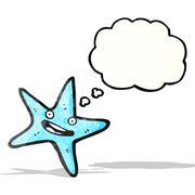 starfish cartoon - stock illustration