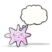 cartoon starfish - stock illustration