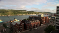 Time lapse of skyline of city of St. John's Newfoundland Stock Footage