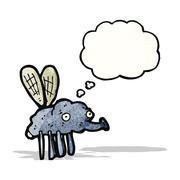 Gross fly cartoon Stock Illustration
