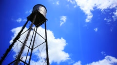 Old Water tower time lapse Stock Footage