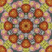 Seamless floral pattern, oil painting Stock Illustration