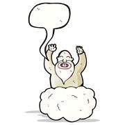 Stock Illustration of god on cloud cartoon