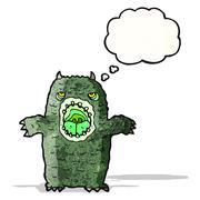 Stock Illustration of scary cartoon monster