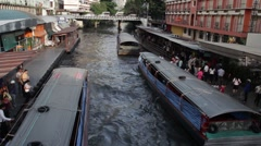 ASIA TRANSPORTATION (BOATS) - Overhead view of canal #1 Stock Footage