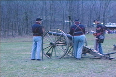 Shoot Civil War Canon Stock Footage