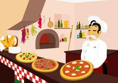 Pizzeria Stock Illustration