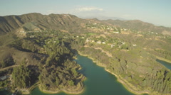2.7K Aerial Shot Lake Hollywood Fly Out Clip 2 APR 00.17 #G10048 Stock Footage