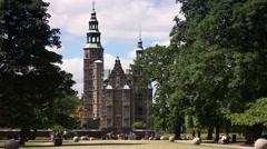 Castle Rosenborg Slot Copenhagen Denmark Stock Footage