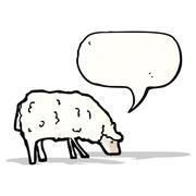 Stock Illustration of cartoon sheep