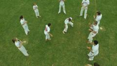 Aerial Image of  Capoeira Dance - 005 Stock Footage
