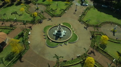 Aerial Image of a Church - 003 Stock Footage