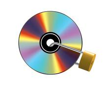 Stock Illustration of Locked CD