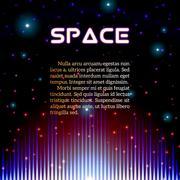 Mystic shiny sound sign with sparkles Stock Illustration