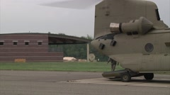 CH-47 Chinook helicopter flight operations Stock Footage