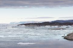 arctic landscape in greenland - stock photo