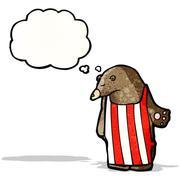 Stock Illustration of cartoon bear in apron