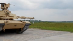 M1A1 Abrams tank at a Combined Arms Live Fire Exercise Stock Footage