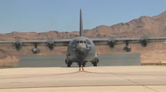 C-130 Hercules aircraft at Red Flag Stock Footage