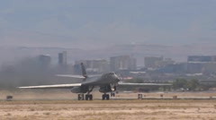 B-1B Lancer aircraft at Red Flag Stock Footage