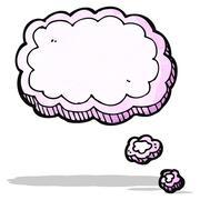 cartoon thought cloud - stock illustration