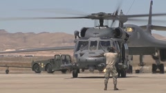 HH-60 Pavehawk helicopter  at Red Flag Stock Footage