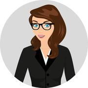 Stock Illustration of Businesswoman close-up