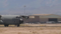 C-130 Hercules Takes Off Stock Footage