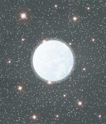 moon and stars - stock illustration