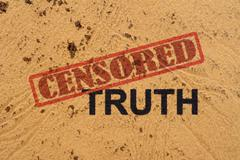 censored truth - stock photo