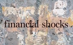 Financial shock Stock Illustration