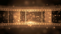 Great opening of film roll Stock Footage