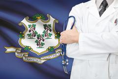 Concept of us national healthcare system - state of connecticut Stock Photos