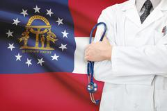 concept of us national healthcare system - state of georgia - stock photo