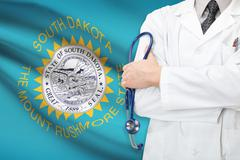 Concept of us national healthcare system - state of south dakota Stock Photos