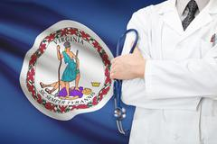 Concept of us national healthcare system - state of virginia Stock Photos