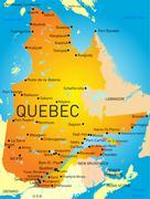 Quebec province Stock Illustration
