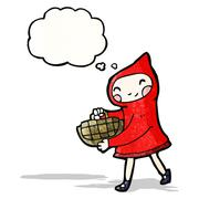 Stock Illustration of little red riding hood cartoon