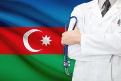concept of national healthcare system - azerbaijan - stock photo