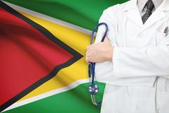concept of national healthcare system - guyana - stock photo