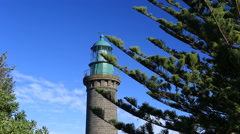 Victorian Historical Black Lighthouse Queenscliff Australia Stock Footage
