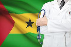 concept of national healthcare system - sao tome and principe - stock photo